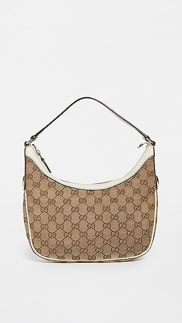 Shopbop Archive Gucci GG 帆布半月包