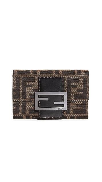 Shopbop Archive Fendi Zucca Compact Flap Wallet