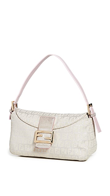 Shopbop Archive Fendi Zucchino Silver Shoulder Bag