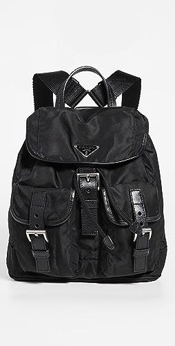 Shopbop Archive - Prada Nylon Leather Backpack