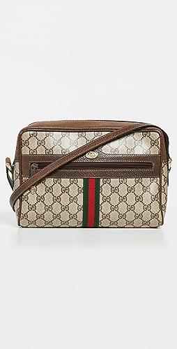 Shopbop Archive - Gucci Vintage Web Zip Front Crossbody Bag