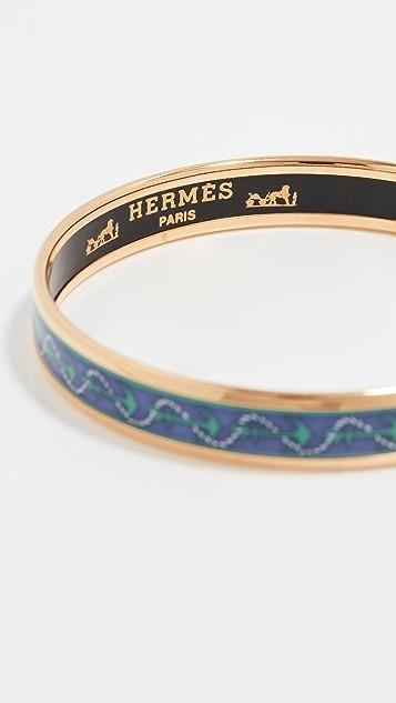 Shopbop Archive Hermes Narrow Enamel Anchor Bangle