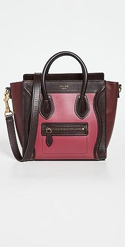 Shopbop Archive - Celine Tri-color Leather Nano Luggage Tote