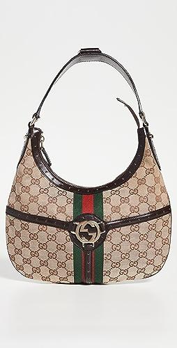 Shopbop Archive - Gucci Reins GG Canvas Hobo Bag