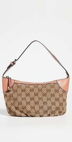 Shopbop Archive - Gucci Web Zipper Pochette, GG Canvas