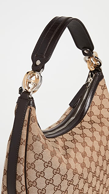 Shopbop Archive Gucci Twins 半月形包,Gg 帆布
