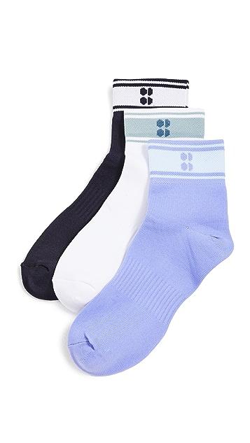 Sweaty Betty 3 Pack Striped Ankle Socks