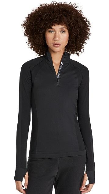 Sweaty Betty Athlete Seamless Half Zip Long Sleeve Top