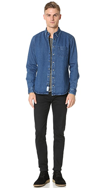 Schnayderman's Leisure Denim Snap Shirt