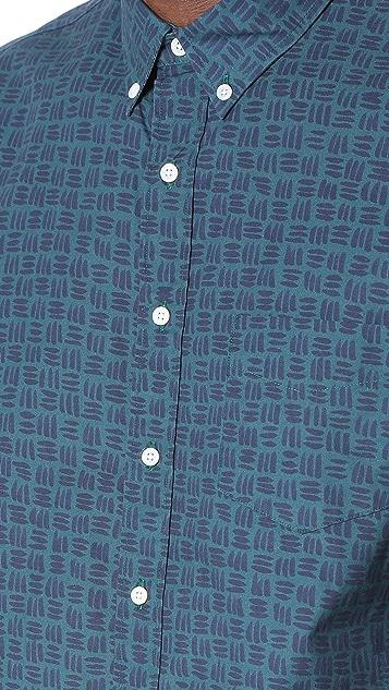 Schnayderman's Leisure Medium Marker Print Shirt