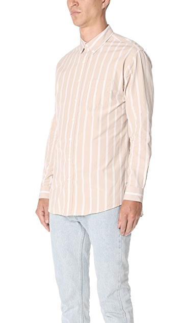 Schnayderman's Leisure Poplin Bold Stripe Shirt