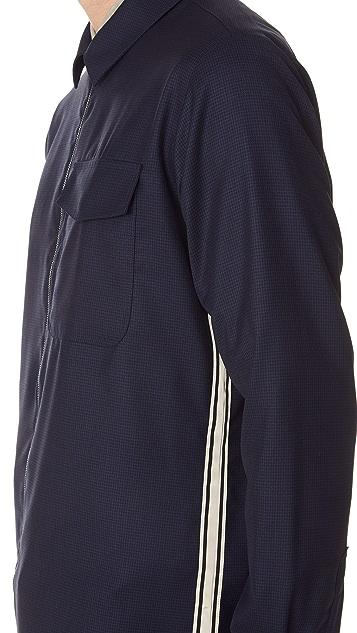 Schnayderman's Houndstooth Zip Leisure Shirt