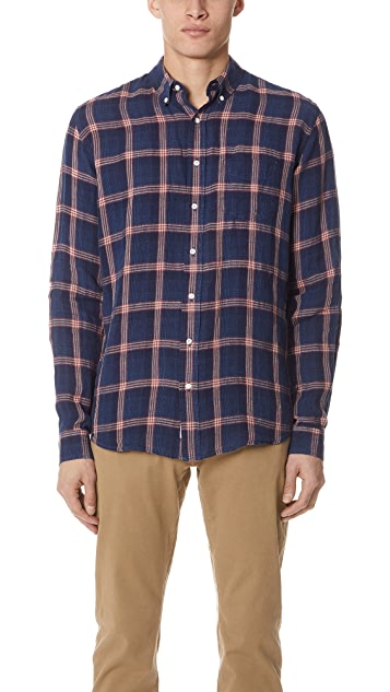 Schnayderman's Linen Checked Leisure Shirt