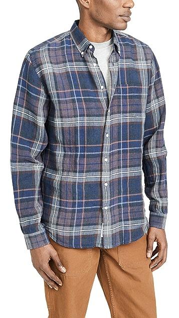 Schnayderman's Linen Indigo Check Shirt