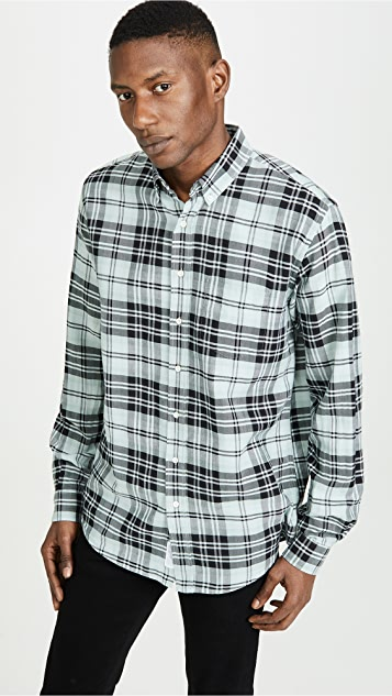 Schnayderman's Large Check Ombre Shirt