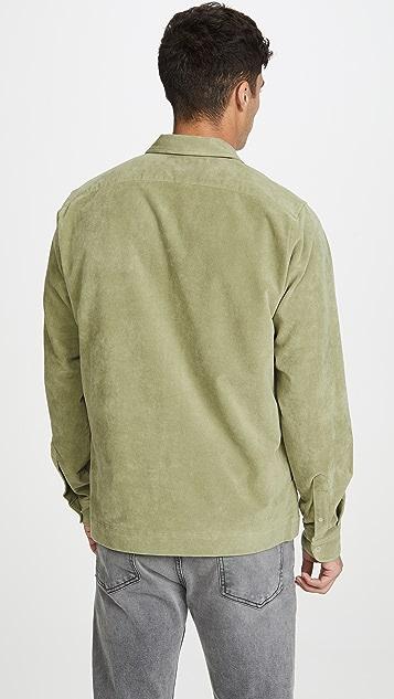 Schnayderman's Long Sleeve Zip Moleskin Shirt