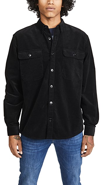 Schnayderman's Solid Boxy Corduroy Shirt