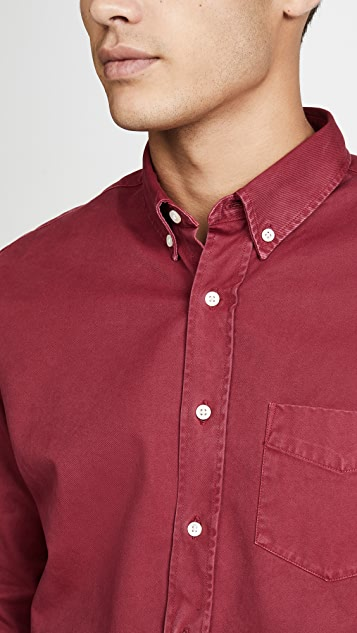 Schnayderman's Button Down Overdyed Shirt