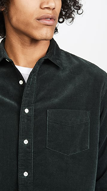 Schnayderman's Solid Corduroy Unbutton Shirt