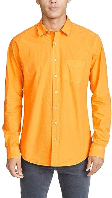 Schnayderman's Poplin Unbutton Garment Dyed Shirt