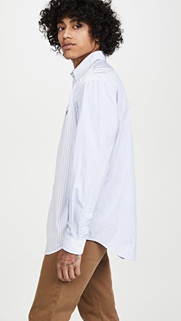 Schnayderman's Oversized Patchwork Long Sleeve Shirt