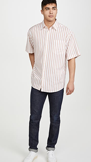 Schnayderman's Oversized Cotton Silk Short Sleeve Shirt