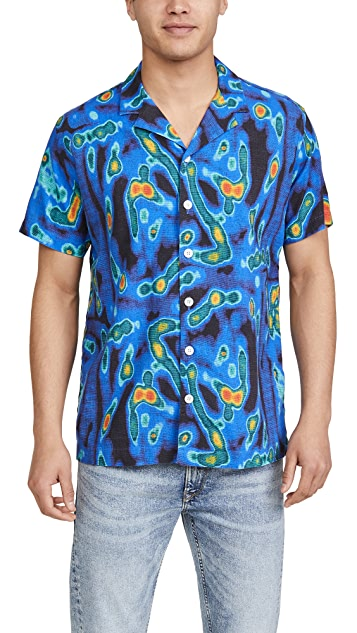 Schnayderman's Heat Map Print Short Sleeve Shirt