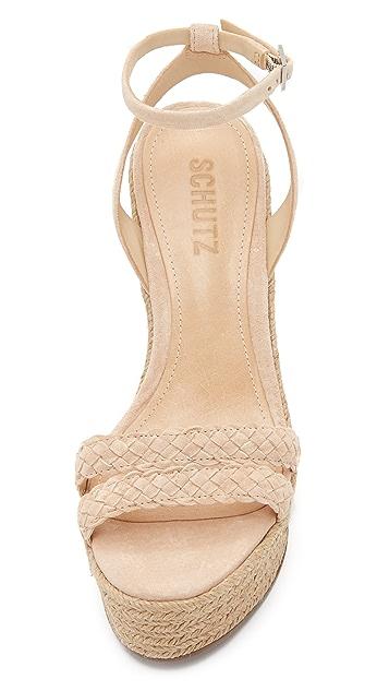 Schutz Adamina Wedge Sandals