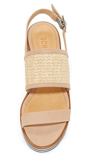 Schutz Jandrea Flatform Sandals
