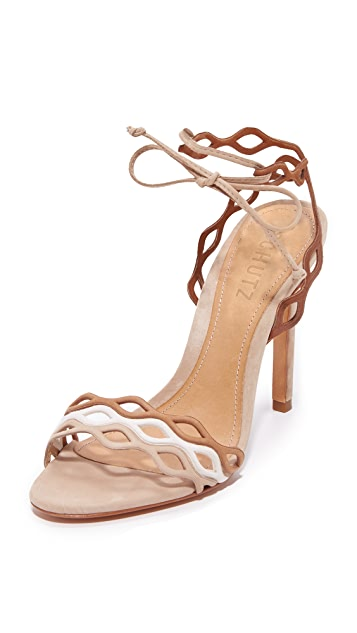 Schutz Jaffy Wrap Sandals