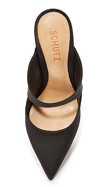 Schutz Nicolly Pointed Toe Heeled Mules