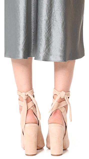Schutz Archie Wrap Peep Toe Heels