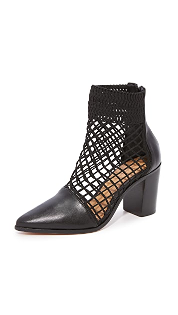Schutz Rosmari Fishnet Booties