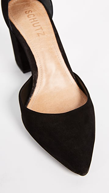 Schutz Ionara 踝带浅口鞋