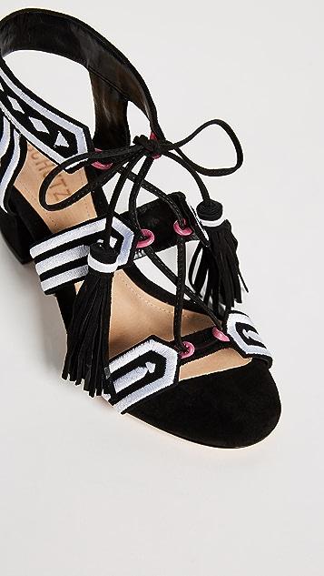Schutz Liessel Block Heel Sandals