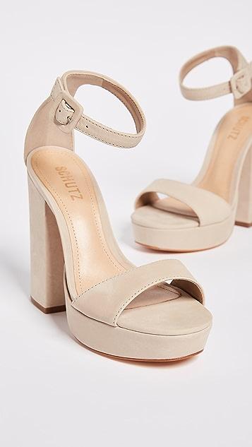 Schutz Mikella Block Heel Sandals