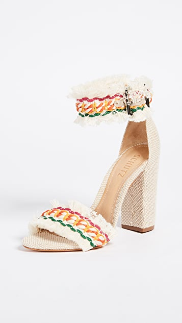 1147ae9d612 Schutz Zoola Block Heel Sandals