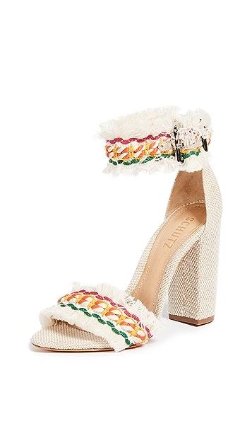 Schutz Zoola Block Heel Sandals