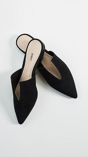 Schutz Туфли без задников Kirsten с остроконечным мыском