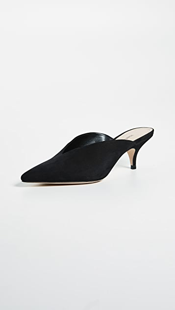 Schutz Alanna Point Toe Mules - Black