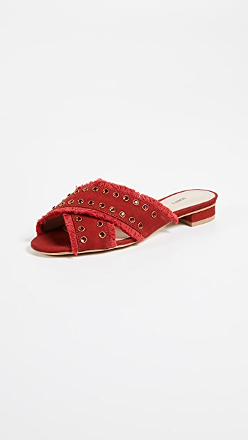 Walquiria Slide in Red. - size 8 (also in 10,6,6.5,7,7.5,8.5,9,9.5) Schutz