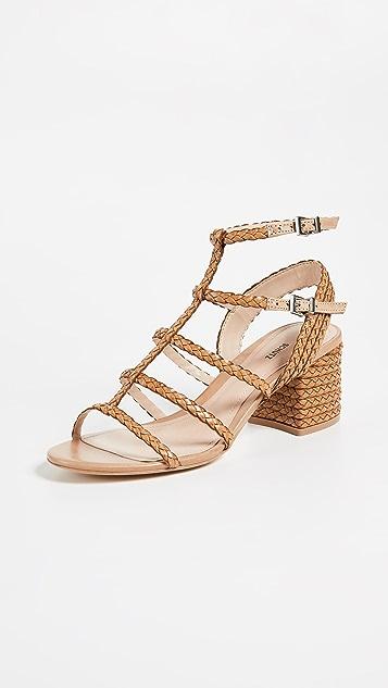 b6cbed8c879 Schutz Clarcie Block Heel Woven Sandals