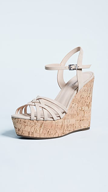 Louna Strappy Wedge Sandals by Schutz