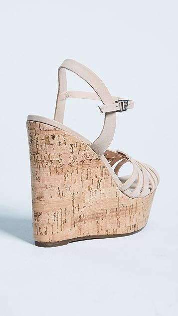 Schutz Louna Strappy Wedge Sandals