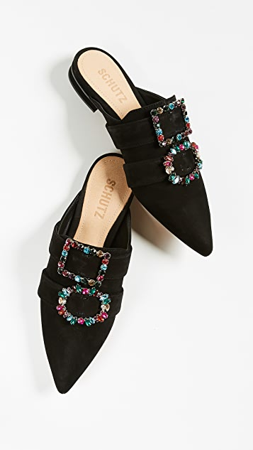 Schutz Rebecca Point Toe Mules