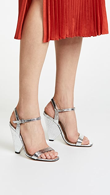 Schutz Liliane Metallic Sandals