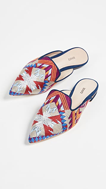 Schutz Graceanne Point Toe Flats