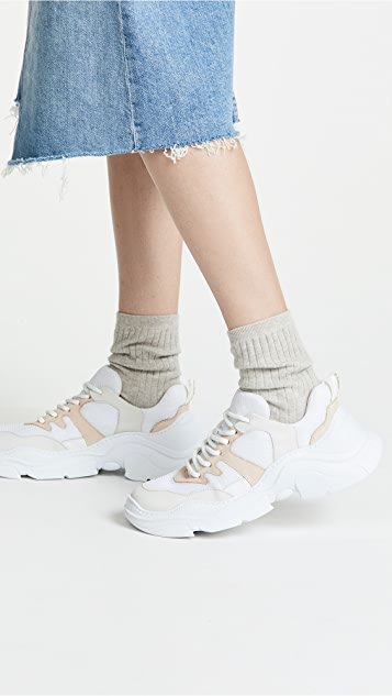 Schutz Lace Up Sneakers