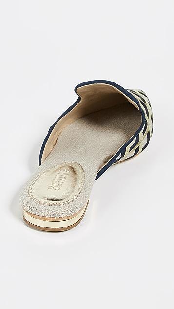 Schutz Туфли без задников Rose с остроконечным мыском