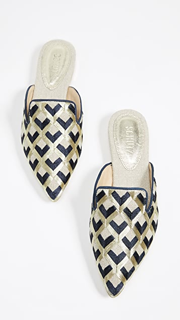 Schutz Rose Point Toe Mules